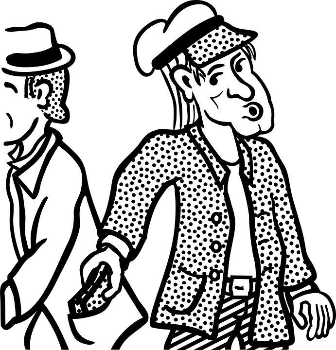 How to avoid pickpockets. Wallet clipart black and white