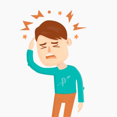 Paleo and migraines leap. Hurt clipart child headache