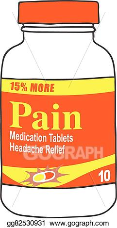 Medication clipart pain medication. Eps vector bottle for