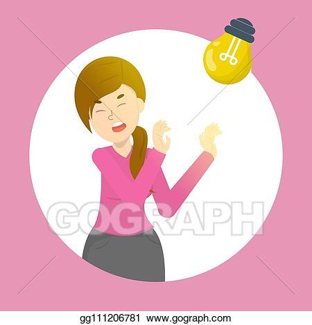 Vector art woman with. Headache clipart sensitivity