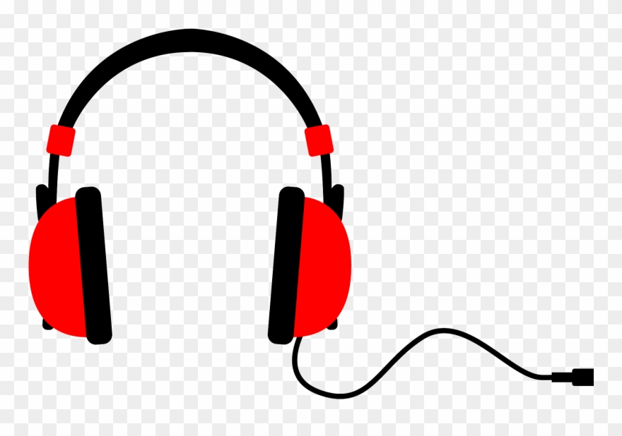 Headphones clipart red headphone. Png images transparent