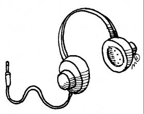 Headphone clip art panda. Earbuds clipart