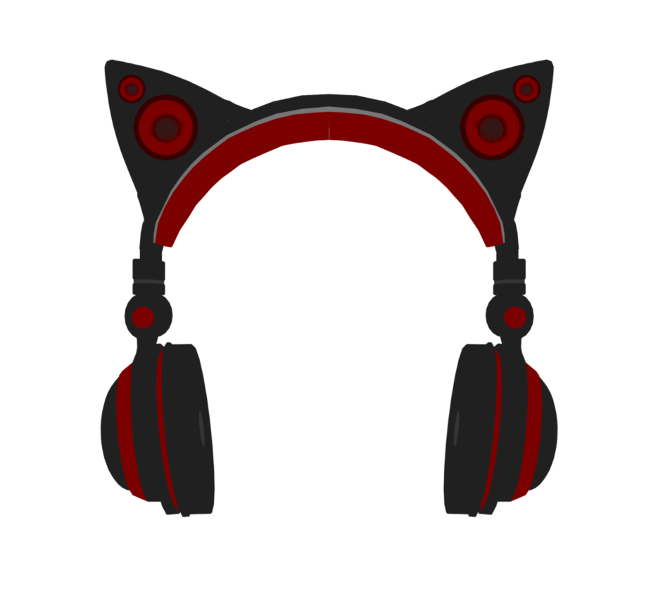 Mmd neko headset dl. Purple clipart headphone
