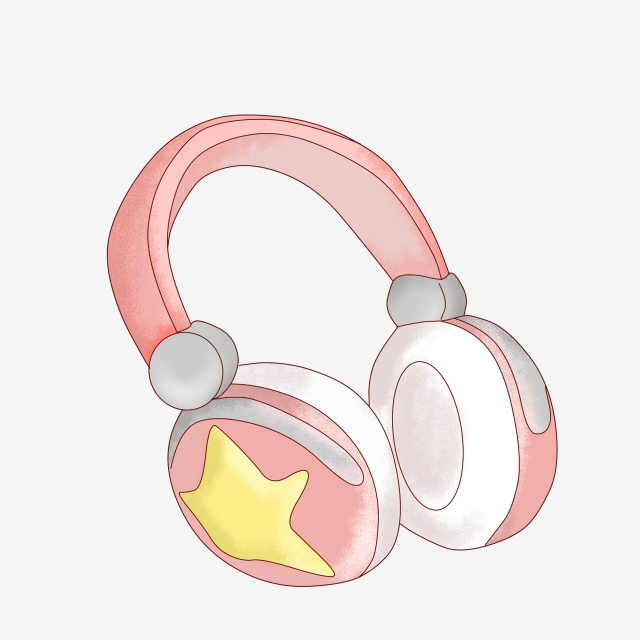 Headphones clipart comic. Cartoon