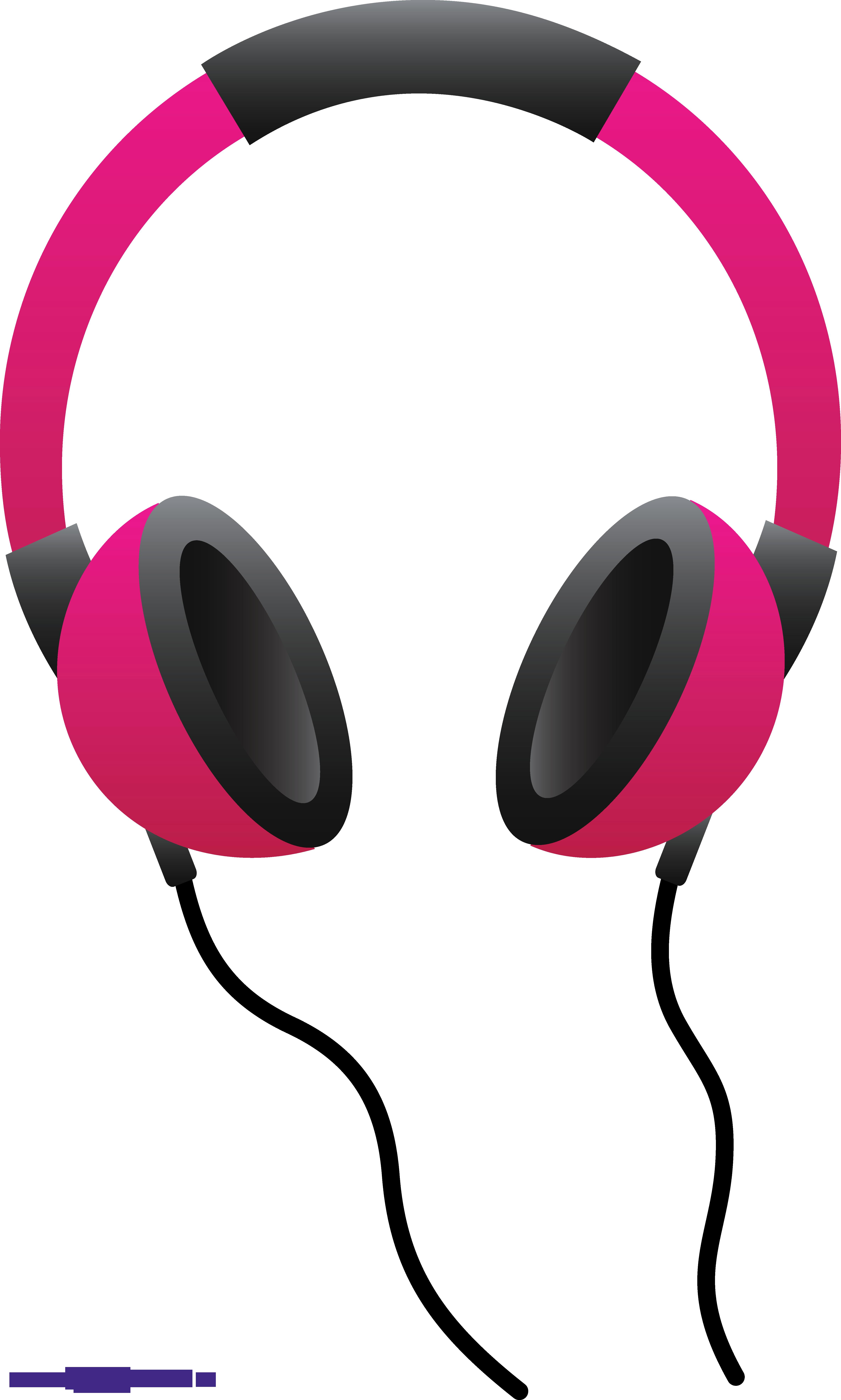Pink sweet. Headphones clipart clip art