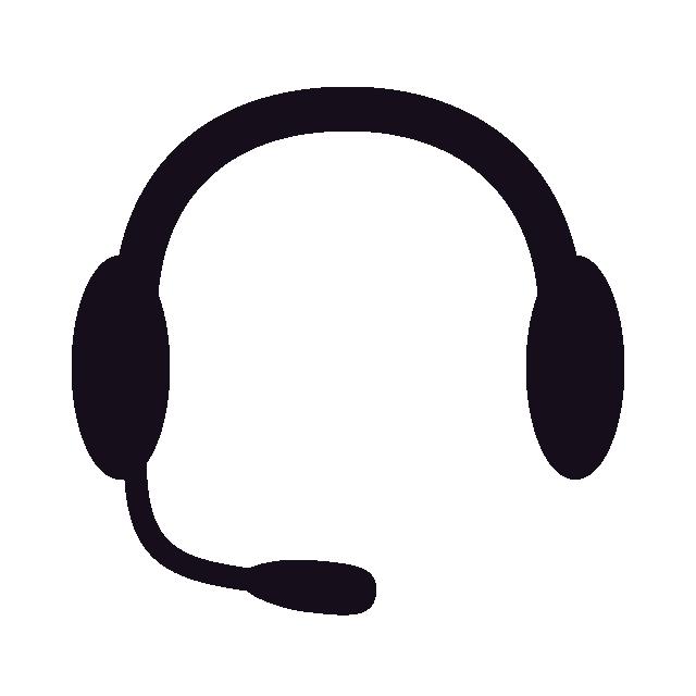 Radio rental dispatching. Headphones clipart dispatcher