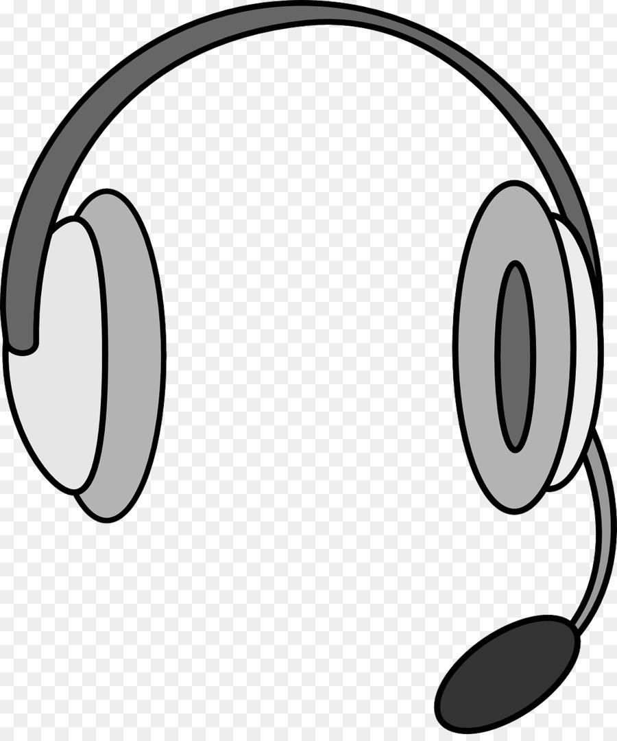 Telephone cartoon microphone sound. Headphones clipart headset