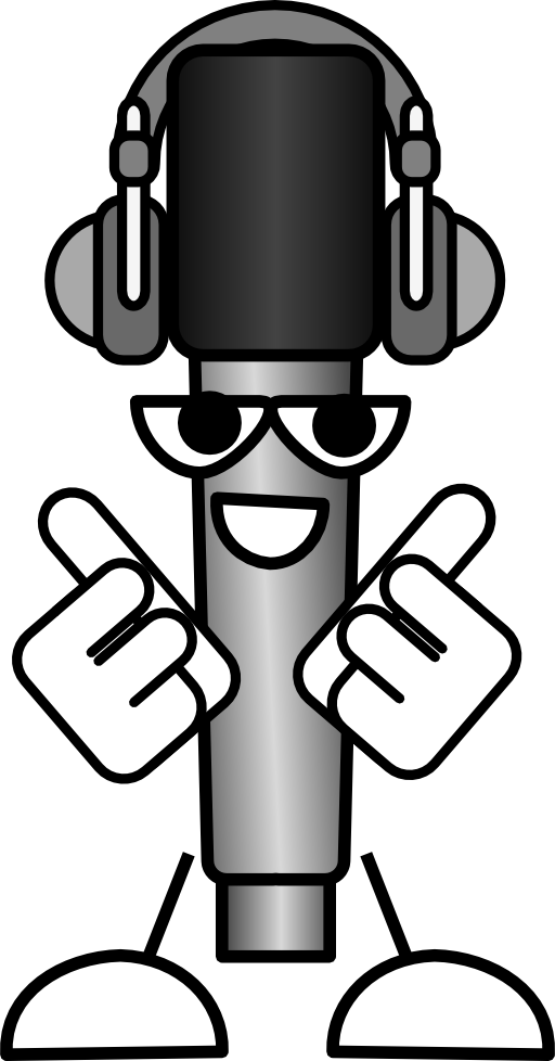 Headphones clipart comic. Mike the mic with