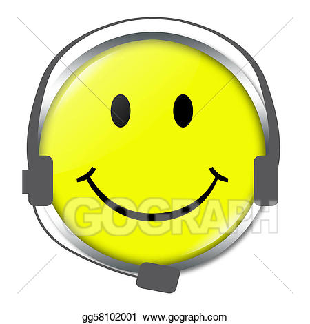 Stock illustrations funny with. Headphone clipart face