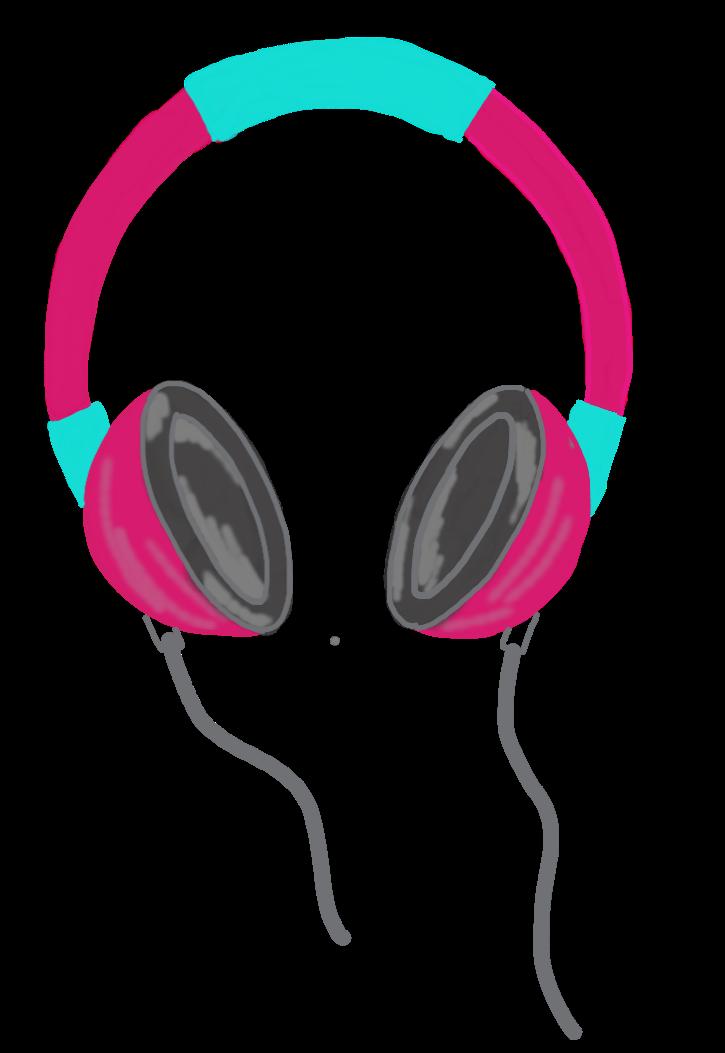 Headphone gold headphone