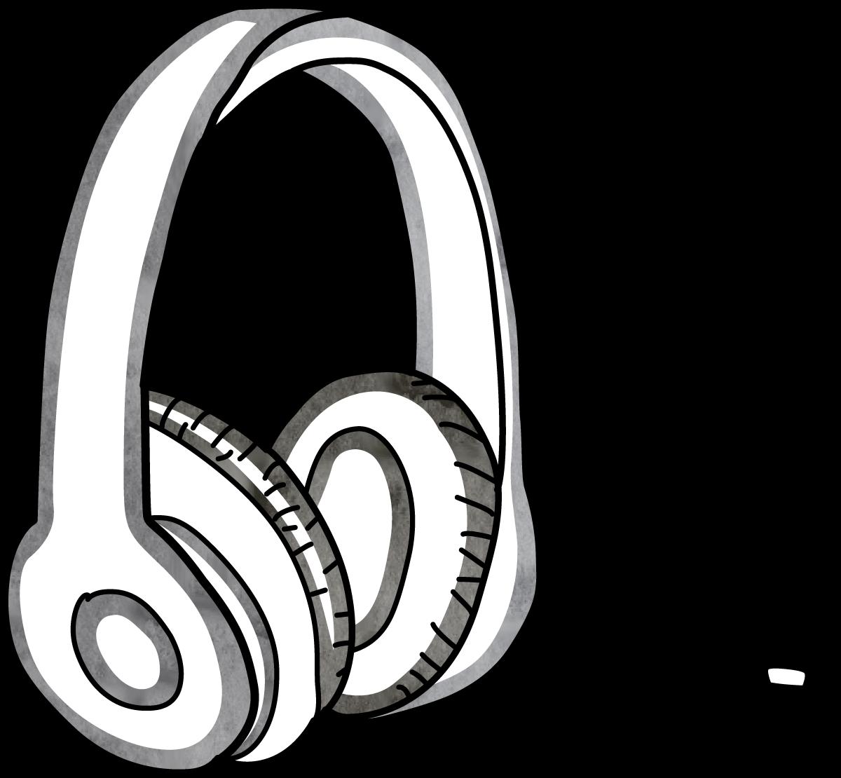 Headphone head drawing