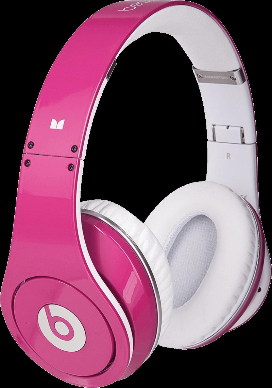 Pink beat transparent png. Headphones clipart file