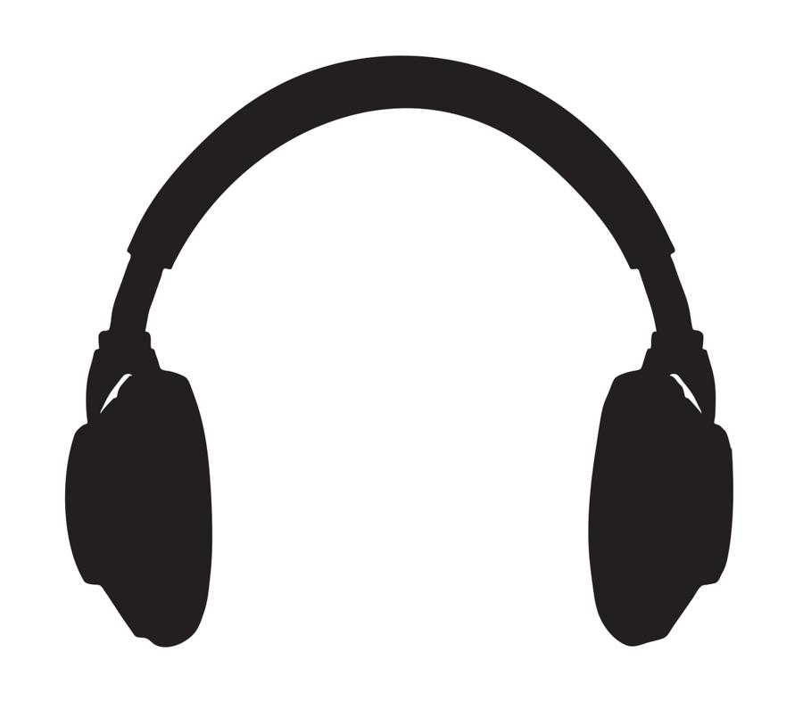 Headphones clipart headset. Cartoon technology transparent clip