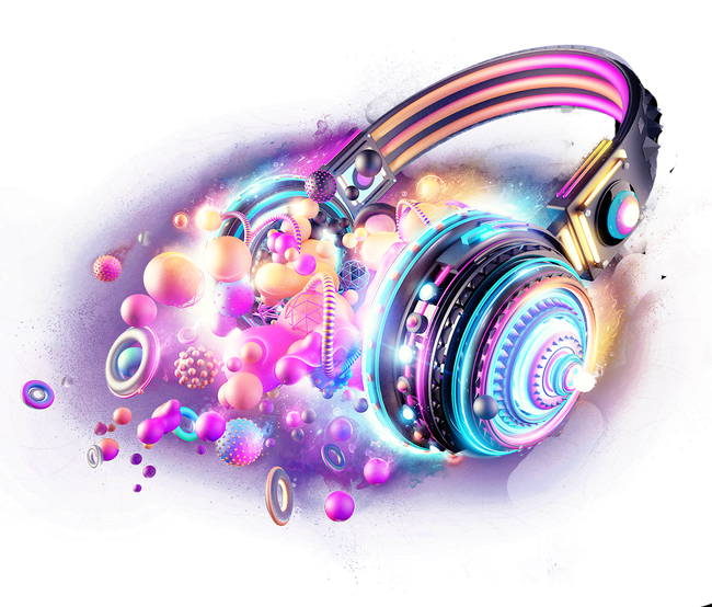d headphones png. Purple clipart headphone