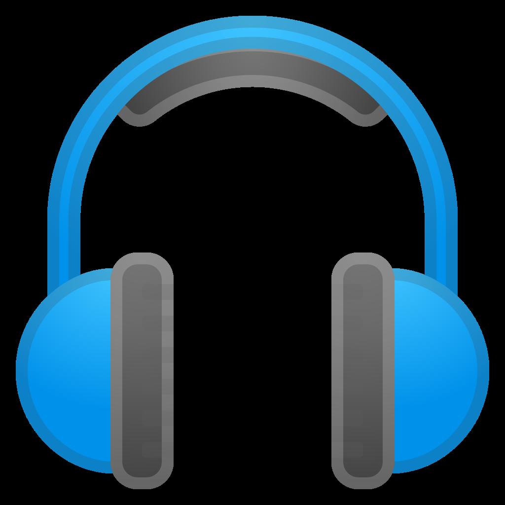 Headphones clipart red headphone. Icon noto emoji objects