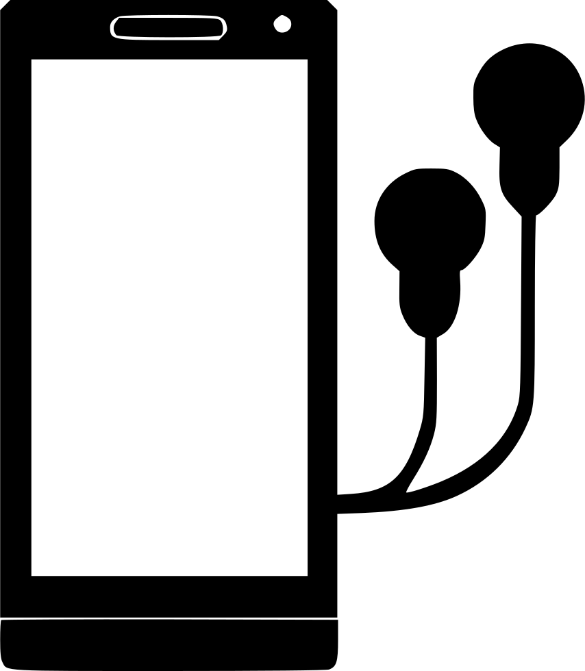 Headphones clipart file. Mobile svg png icon