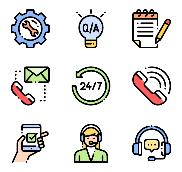 Icons free vector call. Headphones clipart learning center