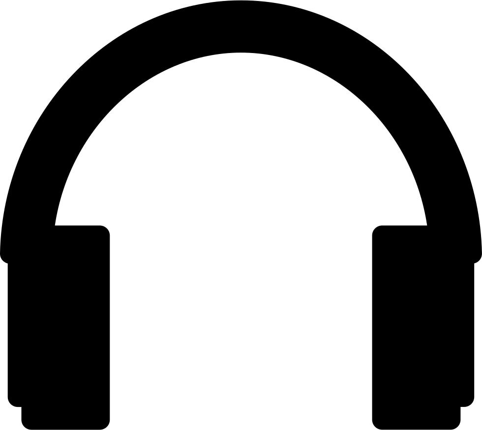 Silhouette svg png icon. Headphones clipart line art
