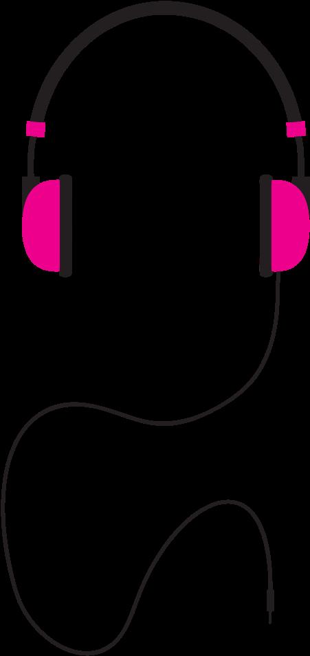 Illustration download . Headphones clipart line art