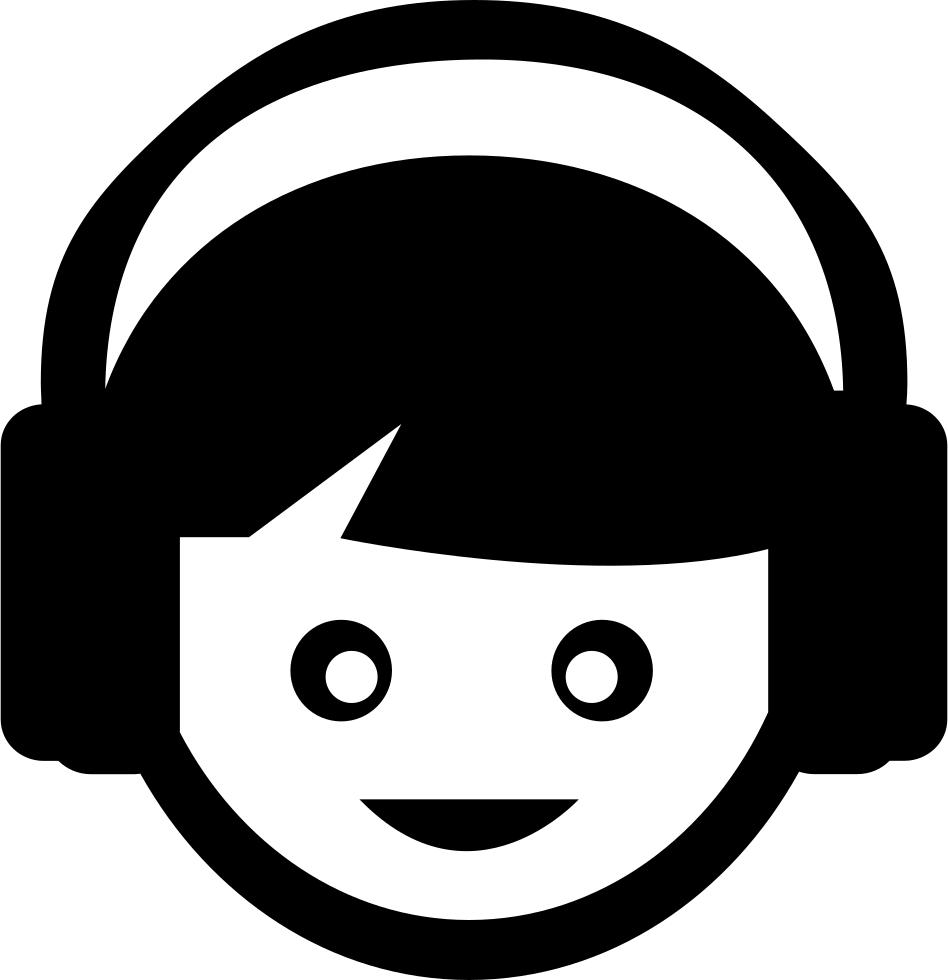 Kid listening music with. Headphones clipart sound bar