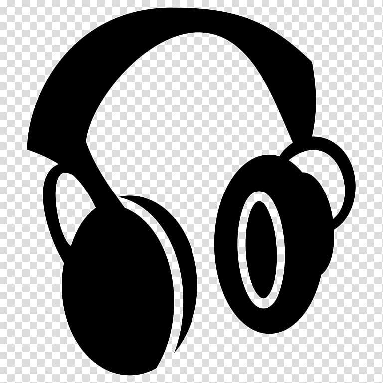 Headphones clipart logo. Black graphic art computer