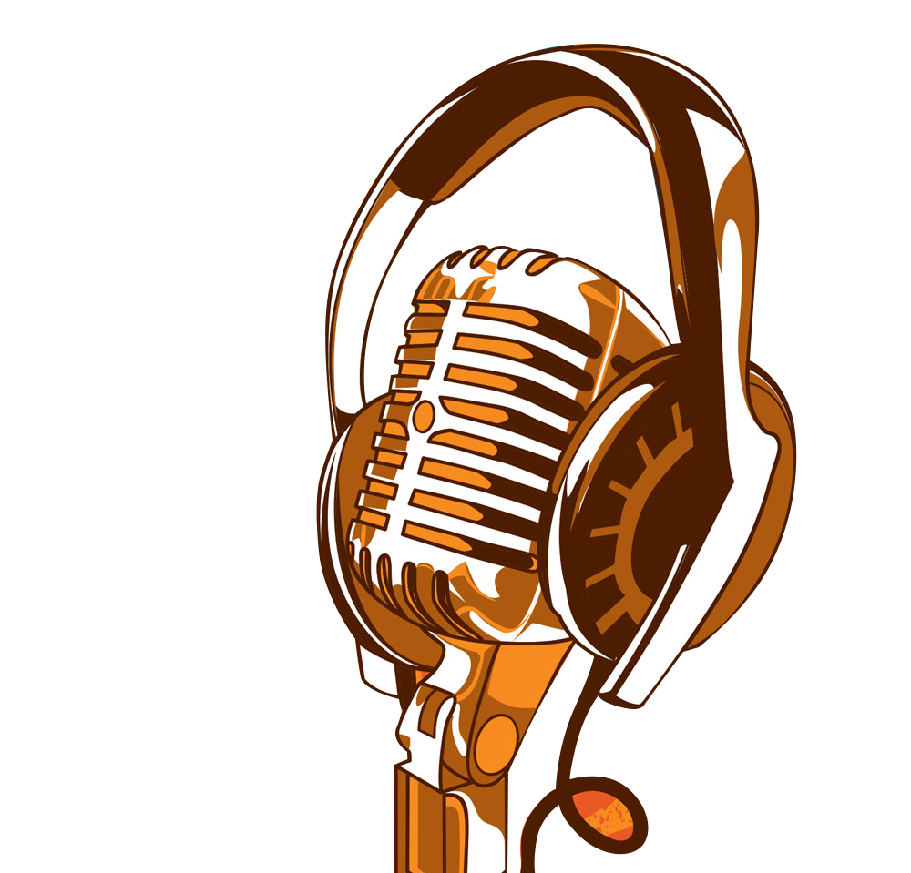 Artist poster work of. Headphone clipart microphone clipart