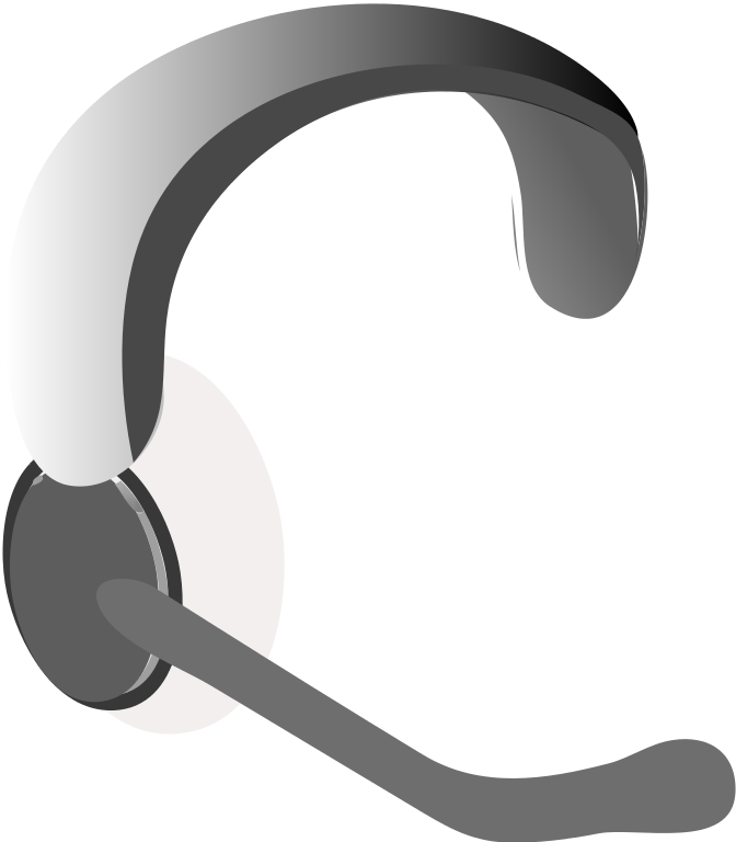 Headphone clipart microphone clipart. File headset icon svg
