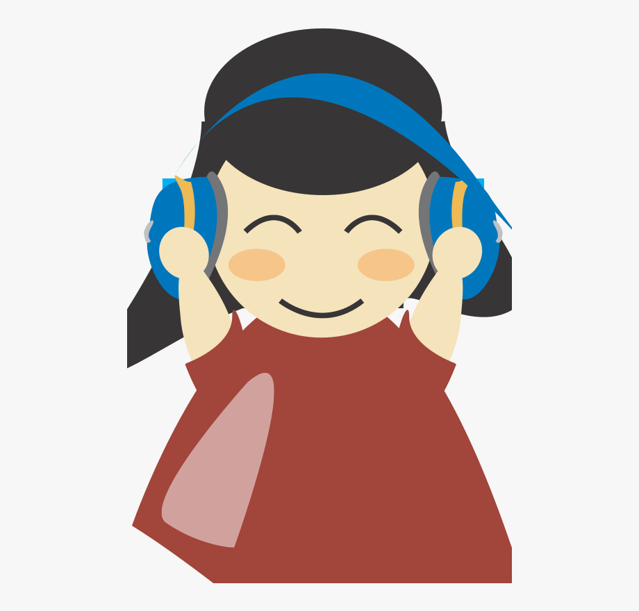 Headphones clipart person. Girl with headphone clip