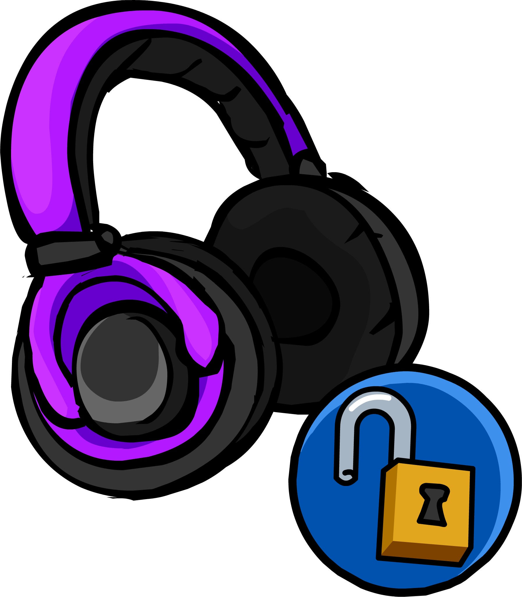 Purple clipart headphone. Headphones club penguin wiki
