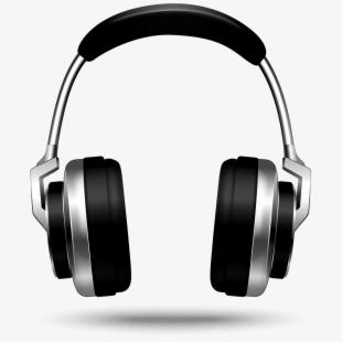 Transparent headphones with . Headphone clipart radio headphone