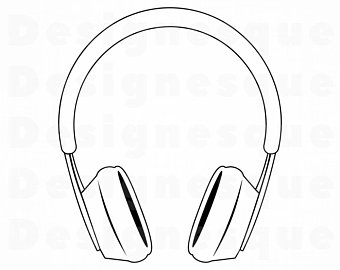 Etsy . Headphones clipart head phone
