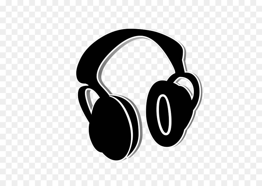 Cartoon microphone technology . Headphones clipart sign