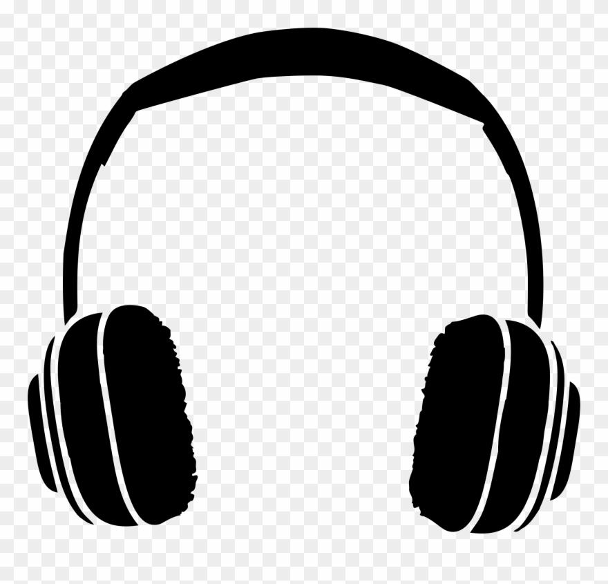 Headphones clipart silhouette, Headphones silhouette ...