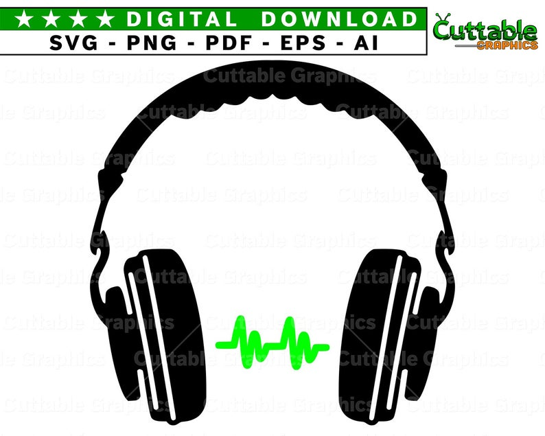 Headphone clipart silhouette. Headphones svg png dxf