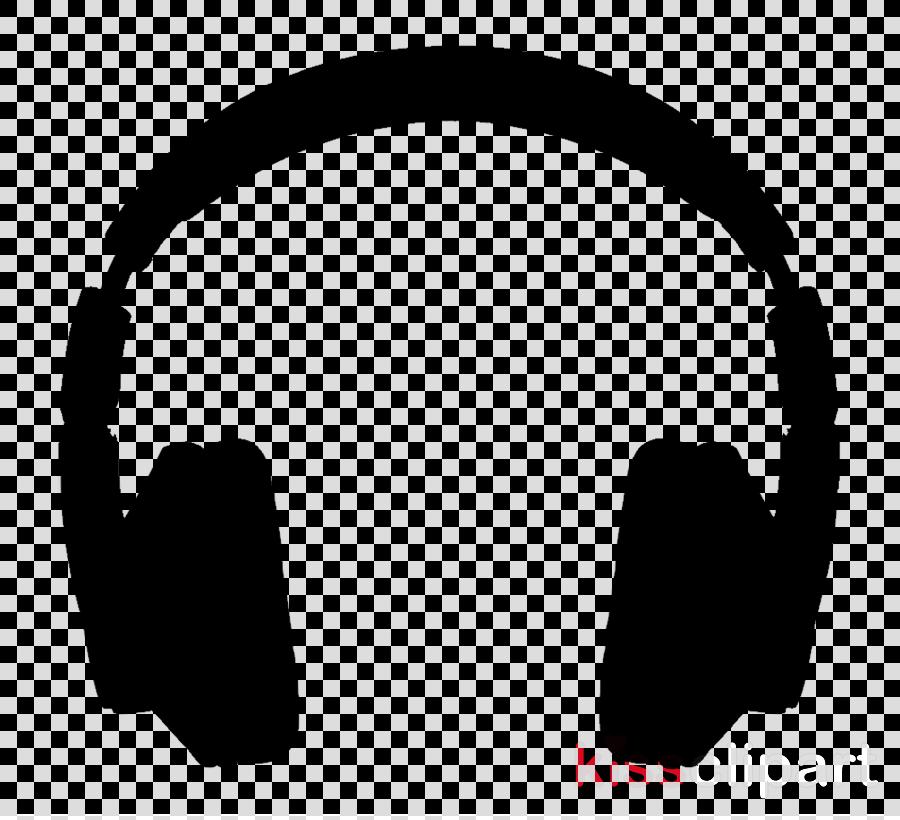 Circle design graphics . Headphone clipart silhouette