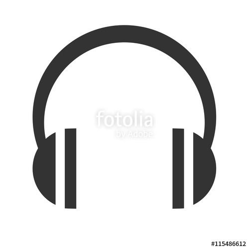 Collection of headphones free. Headphone clipart simple