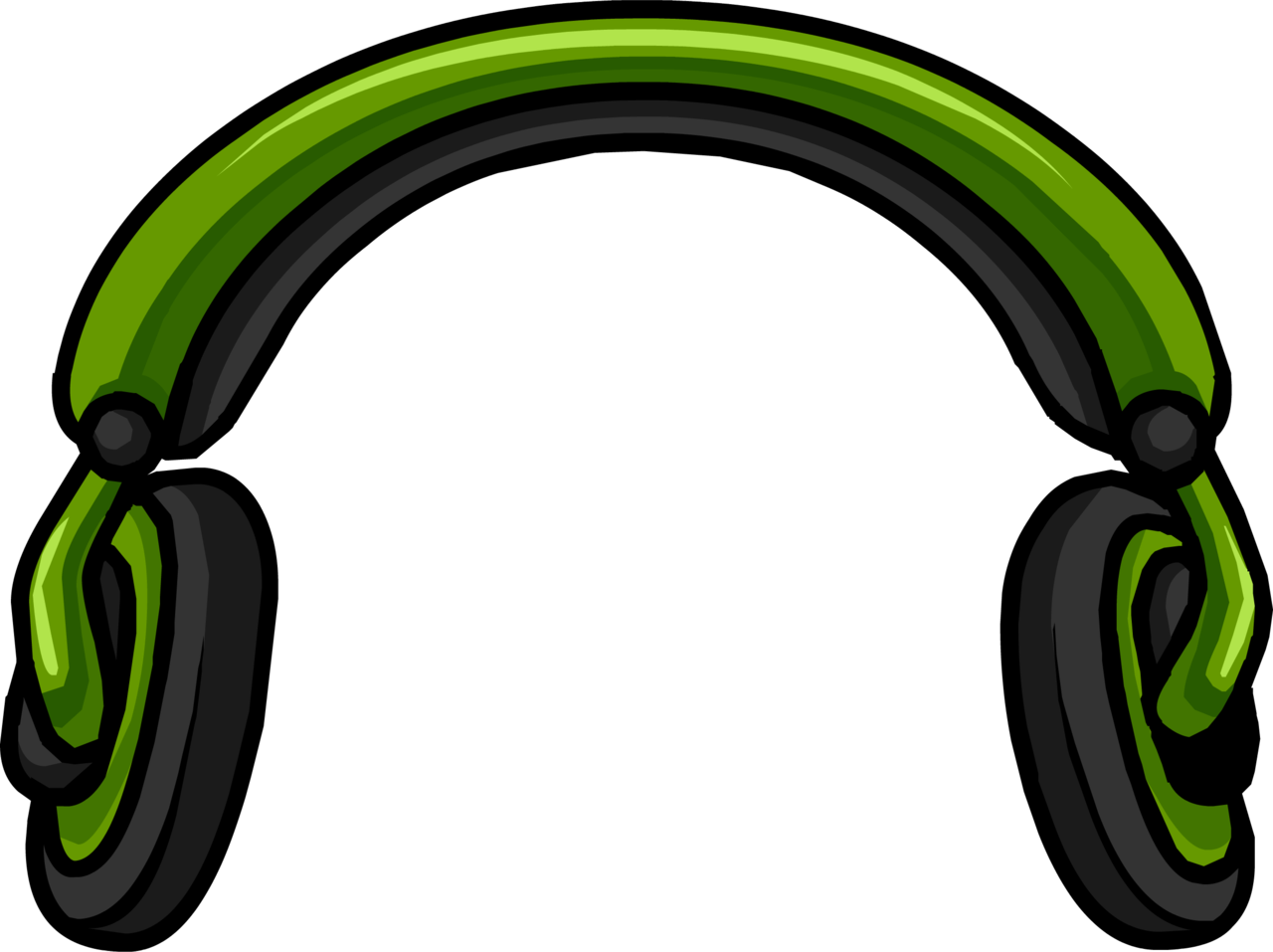 Headphone clipart simple. Image headphones puffle hat