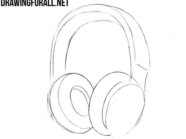 Free drawn headphones download. Headphone clipart simple