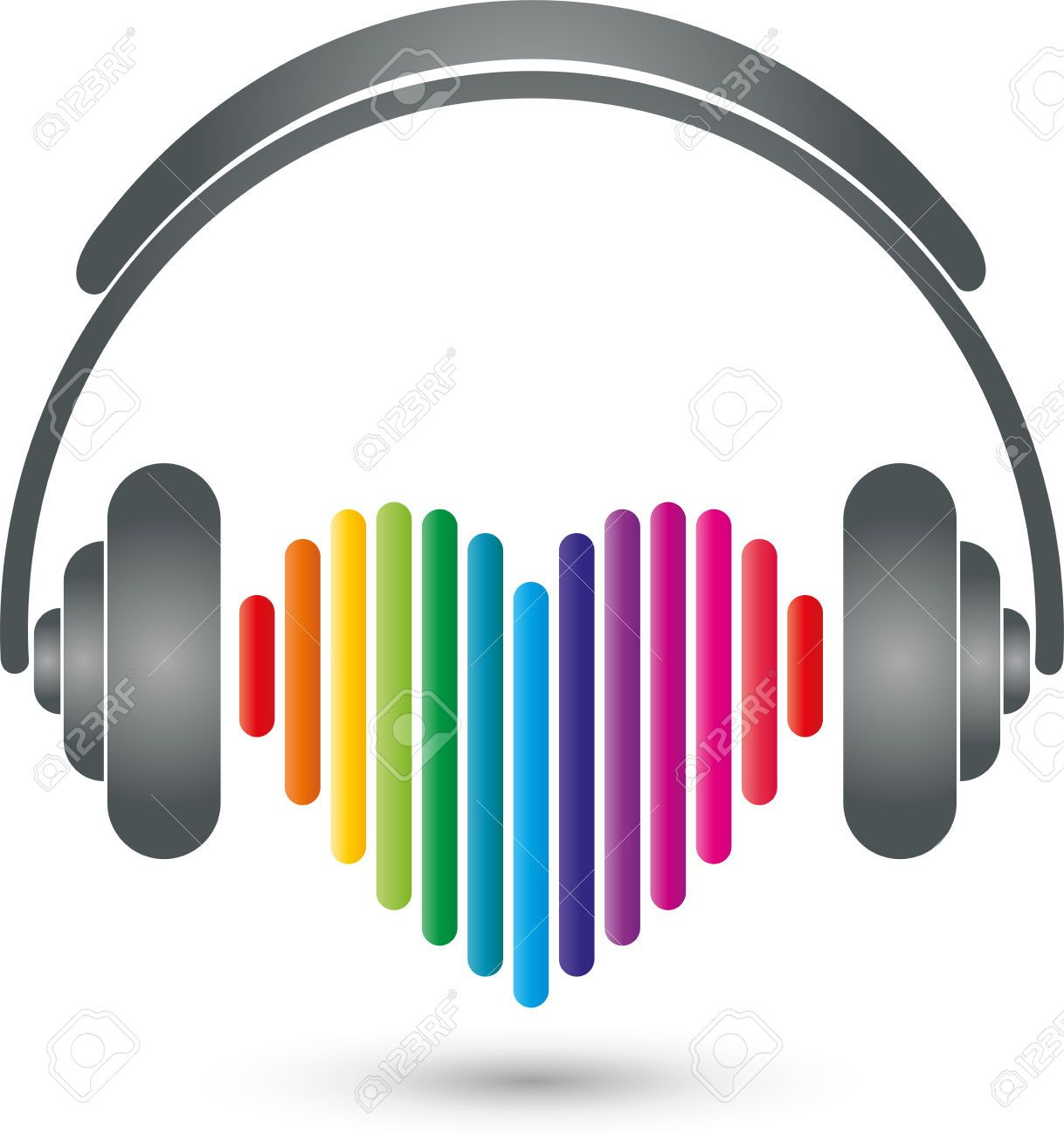 Stock vector alex s. Headphone clipart sound bar
