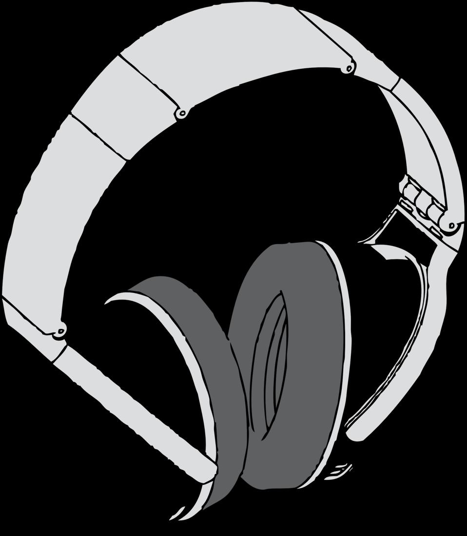 Public domain clip art. Headphone clipart stereo