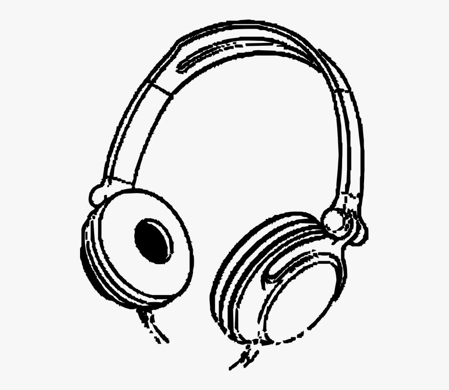 Headphone clipart stereo. Headphones music entertainment audio