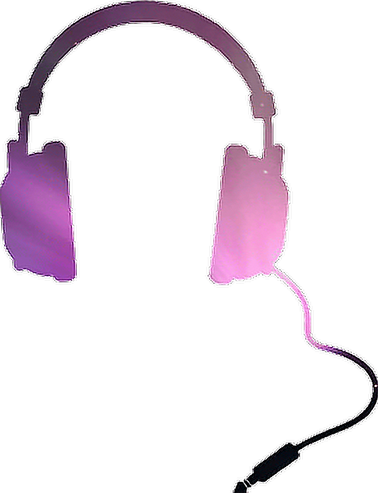 Headphones galaxy pink violet. Purple clipart headphone