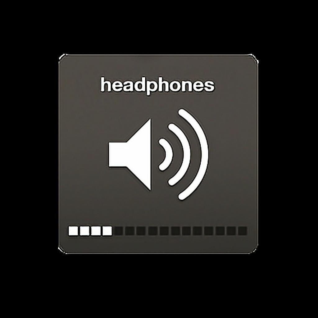 Emoji emoticon audifonos volumen. Headphones clipart tumblr transparent