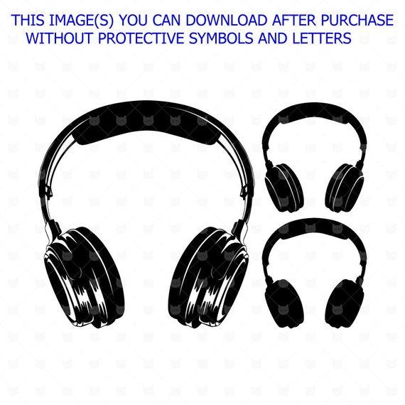 Headphones cut file svg. Headphone clipart vector art