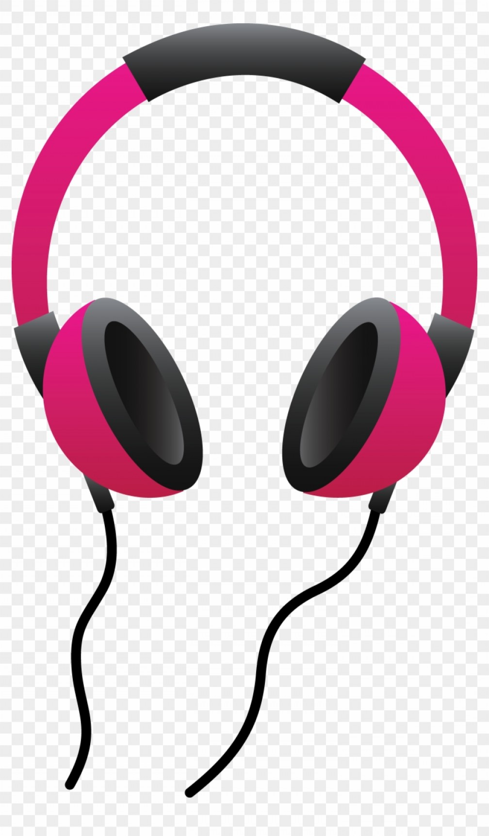 Miizikiaipod clip pink headphones. Headphone clipart vector art