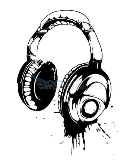 Clip library . Headphone clipart vector art