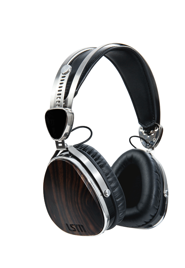Headphone clipart writing center. Ebony wood troubadours on