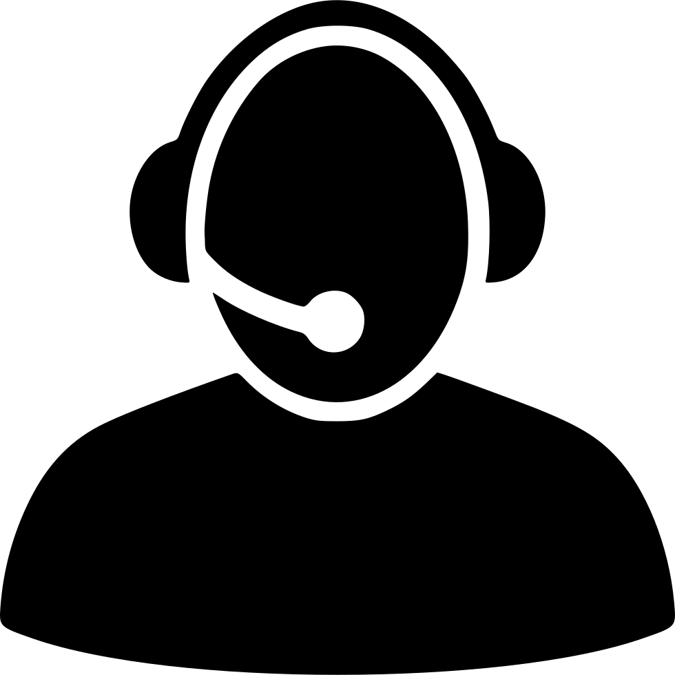 Headphones clipart writing center. Call svg png icon