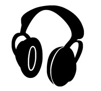 Absolutely free clip art. Headphones clipart