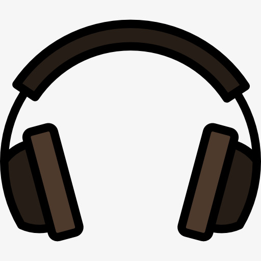 Cartoon headset black png. Headphones clipart